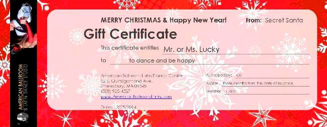 ABL Gift Certificates